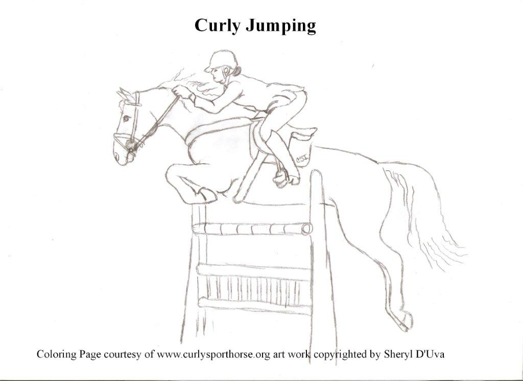 horse jumping coloring pages - photo #37